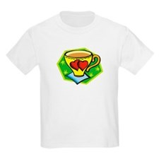 Coffee Cup Heart Kids T-Shirt