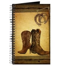 barnwood cowboy boots horseshoe Journal