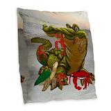 Crab throw pillows Burlap Pillows