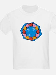 Circle of Hearts Kids T-Shirt