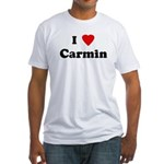 I Love Carmin Fitted T-Shirt