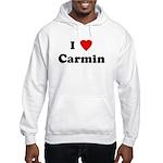 I Love Carmin Hooded Sweatshirt