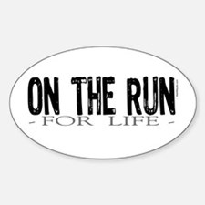 On the Run Oval Decal