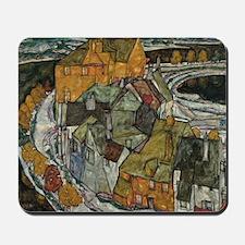 Island Town by Egon Schiele Mousepad