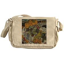 Island Town by Egon Schiele Messenger Bag