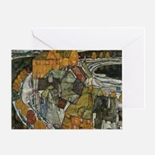 Island Town by Egon Schiele Greeting Card
