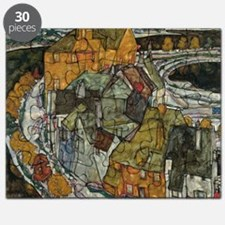 Island Town by Egon Schiele Puzzle