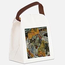 Island Town by Egon Schiele Canvas Lunch Bag