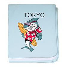 Tokyo baby blanket