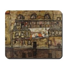 House Wall on the River by Egon Schiele Mousepad