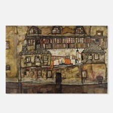 House Wall on the River b Postcards (Package of 8)