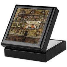 House Wall on the River by Egon Schie Keepsake Box