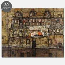House Wall on the River by Egon Schiele Puzzle