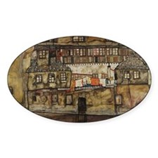 House Wall on the River by Egon Sch Decal