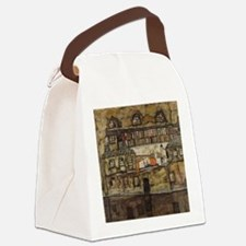 House Wall on the River by Egon S Canvas Lunch Bag