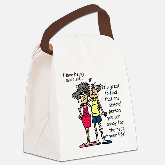 Marriage Humor Canvas Lunch Bag