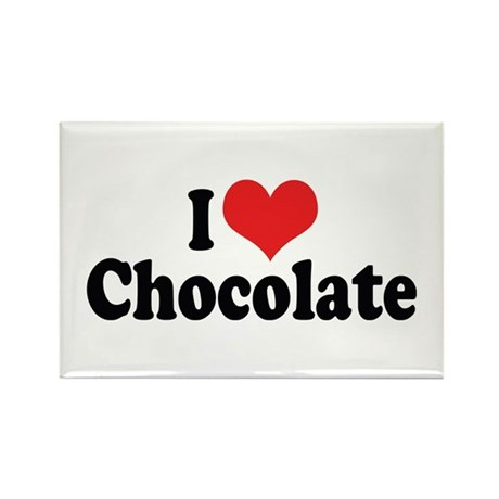 I Love Chocolate 2 Rectangle Magnet (10 pack)