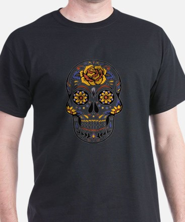 Yellow Rose Sugar Skull T-Shirt