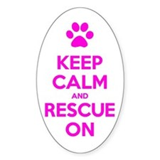 Hot Pink Keep Calm And Rescue On Decal