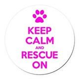 Keep calm and rescue on Car Magnets
