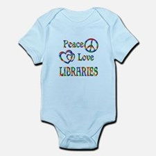 Peace Love LIBRARIES Infant Bodysuit