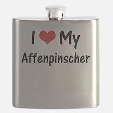 I Heart My Affenpinscher Flask