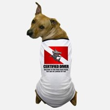 Certified Diver (Food Chain) Dog T-Shirt