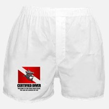 Certified Diver (Food Chain) Boxer Shorts