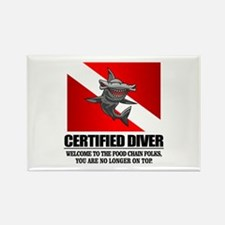 Certified Diver (Food Chain) Magnets