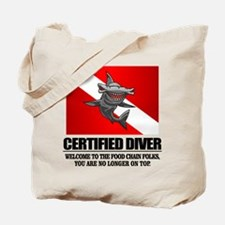 Certified Diver (Food Chain) Tote Bag