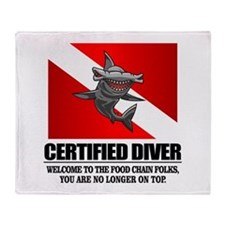 Certified Diver (Food Chain) Throw Blanket