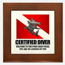 Certified Diver (Food Chain) Framed Tile