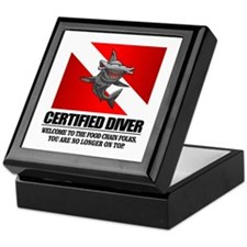 Certified Diver (Food Chain) Keepsake Box
