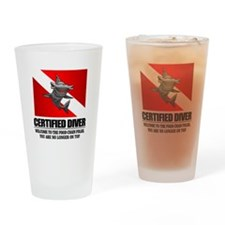 Certified Diver (Food Chain) Drinking Glass