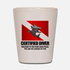 Certified Diver (Food Chain) Shot Glass
