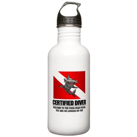Certified Diver (Food Chain) Water Bottle