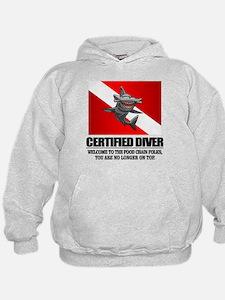 Certified Diver (Food Chain) Hoodie