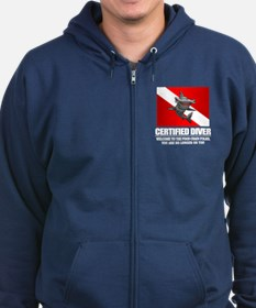 Certified Diver (Food Chain) Zip Hoodie
