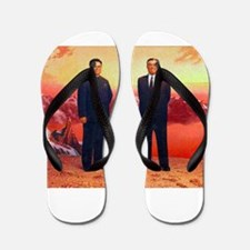 Kim Il Sung et Kim Jong Il - DPRK Juche Flip Flops