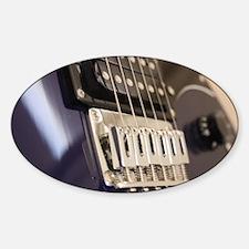 Blue Guitar Sticker (Oval)
