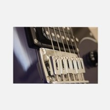 Blue Guitar Rectangle Magnet