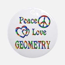 Peace Love GEOMETRY Ornament (Round)