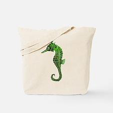 Green seahorse Tote Bag