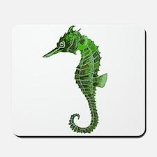 Green seahorse Mousepad