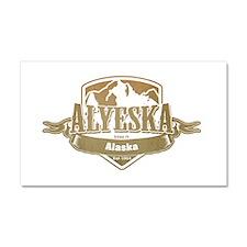 Alyeska Alaska Ski Resort 4 Car Magnet 20 x 12
