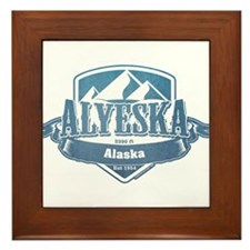 Alyeska Alaska Ski Resort 1 Framed Tile