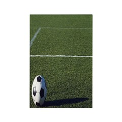 Soccer Field With Ball Rectangle Magnet (10 pack)