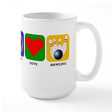 Peace Love Bowling Mugs
