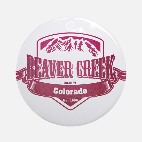Beaver Creek Colorado Ski Resort 2 Ornament (Round