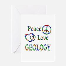Peace Love GEOLOGY Greeting Card